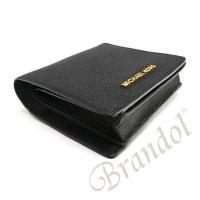 マイケルコース MICHAEL KORS レディース 二つ折り財布 レザー ブラック 32T6GTVD2L 001 [在庫品]