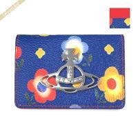 ヴィヴィアンウエストウッド Vivienne Westwood レディース カードケース フラワープリント ブルー 51110020 ANNIE