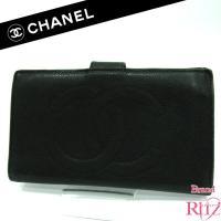 シャネルのキャビアスキン長財布が入荷致しました♪表面はキャビアスキンで仕上げで、ココマークのデザイン...