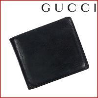 ■管理番号:X10310 【商品説明】 グッチ【GUCCI】の  二つ折り財布です♪ ◆ランク 【6...