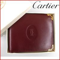 ■管理番号:X11890 【商品説明】 カルティエ【Cartier】の マストライン 二つ折り札入れ...
