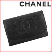 ■管理番号:X14501 【商品説明】 シャネル【CHANEL】の  二つ折り財布です。 ◆ランク ...