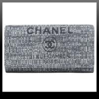 【新品】シャネル CHANEL A80053 ドーヴィル キャンバス&カーフスキン フラップウォレット グレー