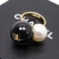 ココマーク 指輪 リング ブラック×ホワイト×ゴールド フェイクパール×プラスチック×金属素材 03...