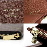 ルイヴィトン Louis Vuitton ラウンドファスナー長財布 ジッピーウォレット モノグラムキャンバス ブラウン 展示品