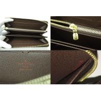 ルイ ヴィトン LOUIS VUITTON 財布 ダミエ エベヌ ジッピー・ウォレット (旧型) ダミエキャンバス ブラウン x ゴールド金具 未使用
