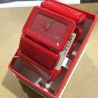 ニクソン ベガ VEGA バングル 腕時計 0143447 赤 / レッド NIXON【中古】【腕時...