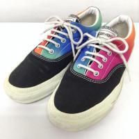 コンバース スニーカー A6337 黒 / ブラック × 桃 / ピンク × 青 / ブルー × 緑...