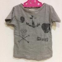 ゴートゥーハリウッド キッズ 120 Tシャツ 18662 灰色 / グレー GO TO HOLLY...