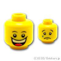 レゴ パーツ ばら売り ミニフィグ ヘッド - 大笑いと涙のWフェイス | lego 部品 ミニフィギュア 頭 顔