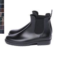 サイドゴアで履きやすいショート丈のレインブーツが新登場!ショート丈なので靴下を見せてもかわいい◎デニ...