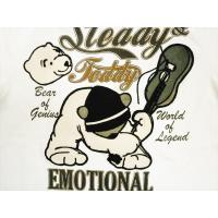 Steady&Teddy ステディー&テディー 長袖Tシャツ 171000 刺繍『ロック』長袖Tシャツ ホワイト