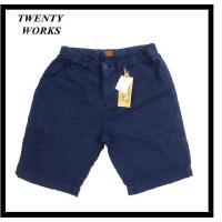 TWENTY WORKS/トウェンティワークス 231-204 ウォッシュ加工・コットンジャガード・ツイル生地・ショートパンツ ネイビー