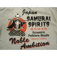 爆裂爛漫娘 (爆烈爛漫娘)/b-r-m/エフ商会 半袖Tシャツ RMT-281 『Samurai Spirits12』和柄Tシャツ アッシュグレー