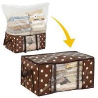 圧縮袋と収納ケースが一体に!!かさばる衣類がすっきりキレイに収納できます!!圧縮袋は、逆流防止バブル...