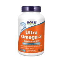 Now Foodsのウルトラオメガ3はフィッシュオイル濃縮オイルを一粒に1000mg配合。オメガ3脂...