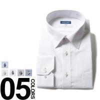 ストレッチ性が高く、着心地快適なワイドカラー長袖ワイシャツ。形態安定加工が施されているから、ヘビーユ...