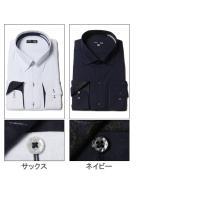 大きいサイズ メンズ ワイシャツ 長袖 3L 4L 5L 6L B&T CLUB オールシーズン 形態安定 ジャガード スナップダウン 千鳥格子