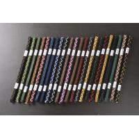 刀剣(真剣・居合刀)用の下緒です。 人絹製 全23色(無地1色と2色織の2種類があります) サイズは...