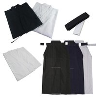 超お買い得価格の居合衣・袴・帯・襦袢の4点セットです。 丈夫なポリエステル地のコストパフォーマンスに...