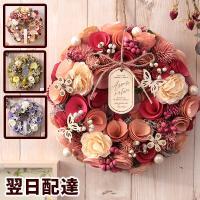 【クリスマス/リース/オーナメント/直径約24cm以上/ドライ/玄関/送料無料/飾り/ドア/おしゃれ/かわいい】ナチュラルリース
