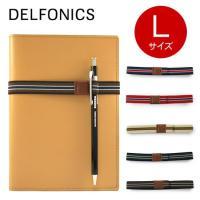 デルフォニックス/DELFONICSのストライプループバンドLは、便利なペンホルダー付きの手帳バンド...