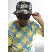 Check Hat グリーン チェック one by one clothing
