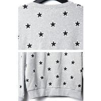 ロングTシャツ メンズ 大きいサイズ 星柄 スター トレーナー ロンt インポート ビッグサイズ B系 ストリート系ファッション