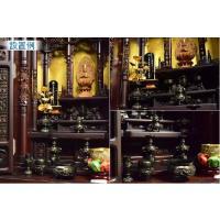 大型仏壇用 高級仏具11点セット【花鳥:3.5寸 黒光色】鋳物 送料無料|butudanya|05