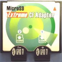 microSDカードをCFカード(Type)に変換するアダプタです