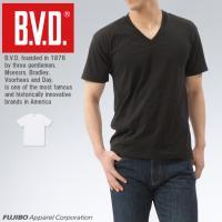 無地 Vネック半袖Tシャツ BVD 定番 吸水速乾 インナーウェア  ポイント消化
