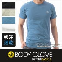 BODY GLOVEの定番丸首半袖Tシャツ。 吸水速乾機能で洗濯後の乾きも早い。   素材:ポリエス...