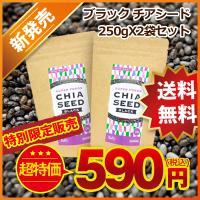 チアシード 250gX2袋セット ブラック スーパーフード 話題の オメガ3 オメガ6 64%OFF 特別限定販売 なくなり次第終了 お腹満足 腹持ち抜群
