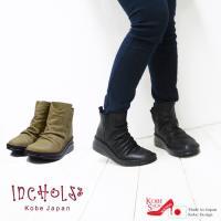 ■とっても柔らかな牛革を使用したくしゅっと仕上げが肌触りの気持ちよいショートブーツ。□革の柔らかさに...