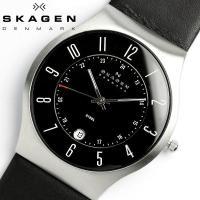 スカーゲン SKAGEN 腕時計 メンズ 233XXLSLB 星野源着用モデル レザー 革ベルト デ...