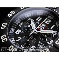 LUMINOX ルミノックス クロノグラフ 腕時計 3081 ネイビーシールズ カラーマーク ルミノ...