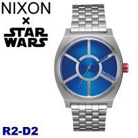 ニクソン NIXONスターウォーズ コラボモデル R2-D2 タイムテラー シルバー×ブルー 腕時計...