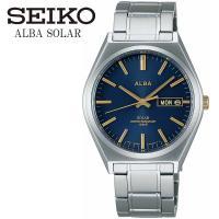 【SEIKO ALBA】 セイコー アルバ ソーラー 腕時計 メンズ AEFD536 落ち着いたカラ...