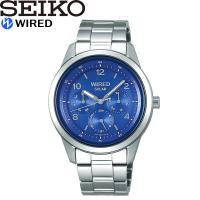 【SEIKO WIRED】 セイコー ワイアード 腕時計 メンズ ソーラー電波 10気圧防水 AGA...