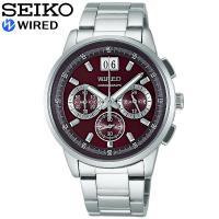 SEIKO セイコー クロノグラフ WIRED セイコー ワイアード メンズ腕時計 クロノグラフ ニ...