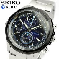 SEIKO セイコー WIRED ワイアード 腕時計 メンズ 時計 クロノグラフ立体感のあるダイヤル...