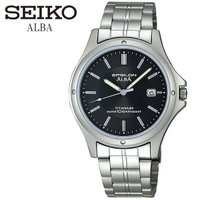 【SEIKO ALBA】 セイコーアルバ 腕時計 メンズ チタン 10気圧防水 ASSX005 スタ...