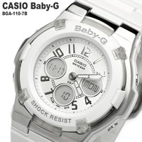 【CASIO/カシオ】 Baby-G 腕時計 レディース ホワイト 海外モデル BGA100-7B質...