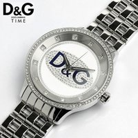 D&G ドルチェ&ガッバーナ プライムタイム メタル ラインストーン 腕時計DW0133 シルバーメ...