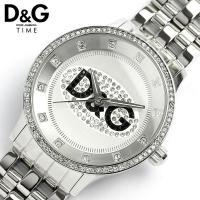 D&G ドルチェ&ガッバーナ プライムタイム メタル ラインストーン 腕時計DW0145シルバーメタ...
