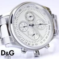 D&G ドルチェ&ガッバーナ クロノグラフ メントーン メンズ腕時計 DW0431  4つのインダイ...