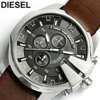 ディーゼルDIESEL腕時計 メンズ レザー DZ4290 メガチーフ人気モデルが進化を遂げた!クロ...