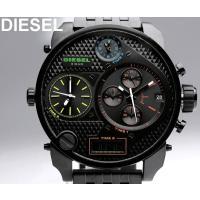 DIESEL ディーゼル 腕時計 ビックケース トリプルタイム クロノグラフ メンズ 腕時計 DZ7...