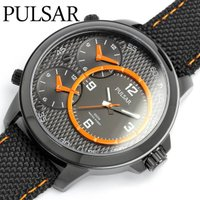 【SEIKO PULSAR】パルサー 腕時計 逆輸入モデル トリプルタイム メンズ 100M防水 セ...