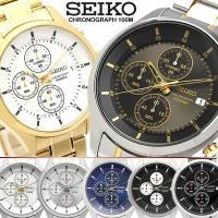 【SEIKO/セイコー】 クロノグラフ メンズ 腕時計 100M防水 海外モデル 07SEIKO セ...